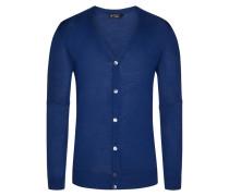Strickjacke, Regular Fit in Blau für Herren