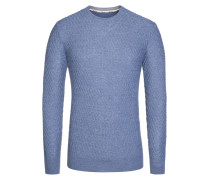 Pullover, Slim Fit in Blau für Herren