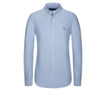 Freizeithemd, Custom Fit in Blau für Herren