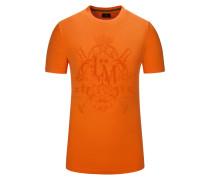 T-Shirt, Regular Fit in Orange für Herren