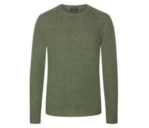 Pullover mit Ellenbogenpatches, 100% Kaschmir Mint