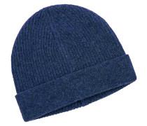 Mütze im Kaschmirmix in Blau