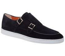 Doppelmonk-Sneaker, Veloursleder Marine