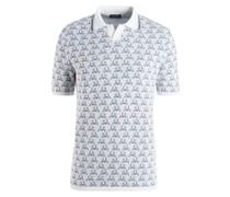 Gestricktes Poloshirt mit Vespa-Motiv