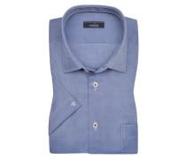 Halbarmhemd, tailor fit in Blau für Herren
