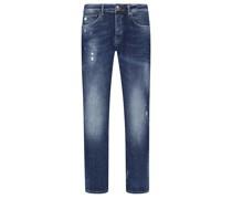 Jeans modischer Waschung, U2, Slim Fit