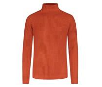 Pullover mit Stehkragenreine Merinowolle Rost