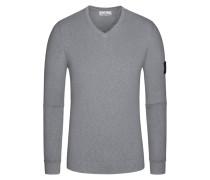 Pullover, V-Neck, Slim Fit in Grau für Herren