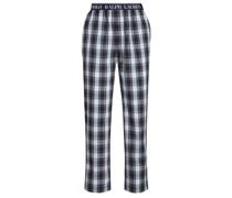 Homewear-Pants im Karomuster Gruen