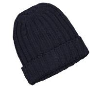 Strick-Mütze aus reiner Baumwolle in Marine
