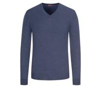 Leichter Merino-Pullover mit Ellenbogenpatches