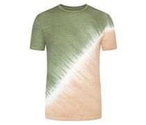 T-Shirt feiner LeinenstrukturBatik-Optik Tanne