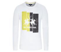 Sweatshirt, O-Neck in Weiss für Herren