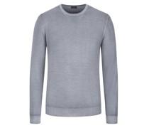 Leichter Wollpullover hochwertiger Merino-Qualität, Vintage-Optik Hell