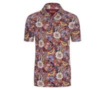 Poloshirt mit Blumen-Muster