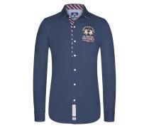 Freizeithemd, Slim Fit in Blau für Herren