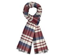 Schal aus reiner Wolle Bordeaux