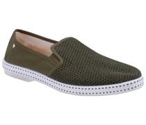 Loafer im Strickmuster Oliv