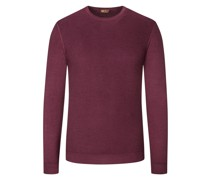 Pullover aus 100% Merinowolle Bordeaux