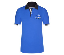 Poloshirt, Slim Fit in Blau für Herren