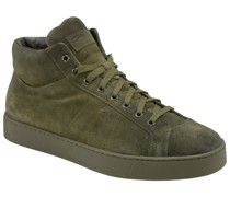 High Top Sneaker Wildleder Oliv