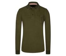 Poloshirt, Langarm, Regular Fit in Gruen für Herren