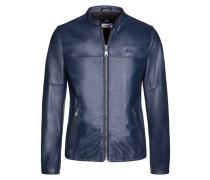 Lederjacke, Regular Fit, Made in Italy in Blau für Herren