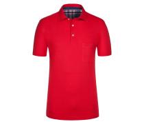 Poloshirt, Pio-Check in Rot für Herren