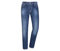 Jeans, Leonardo, Slim Fit in Blau für Herren