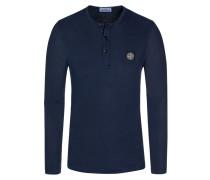 T-Shirt, Langarm in Blau für Herren