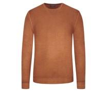 Leichter Wollpullover hochwertiger Merino-Qualität, Vintage-Optik