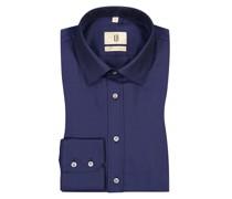 Hemd aus 100% Baumwolle, Slim Fit Marine