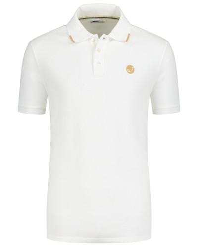 Poloshirt mit Stretchanteil in Offwhite