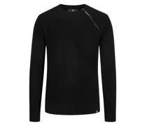 Hochwertiger Pullover mit seitlichem Reißverschluss