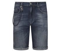 Modische Jeans-Bermuda Marine