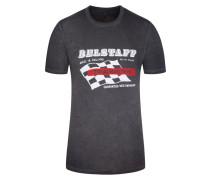 T-Shirt, Calverley, Regular Fit in Grau für Herren
