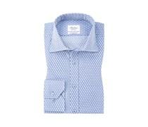 Oberhemd, extra langer Arm, Fitted Body in Blau für Herren