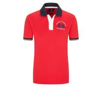 Poloshirt mit Stretchanteil, Slim Fit in Rot