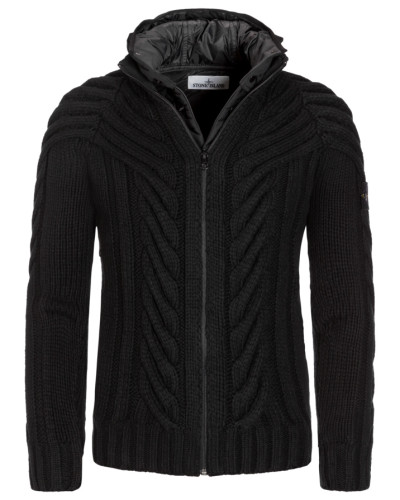 stone island herren strickjacke president 39 s knit in schwarz f r herren reduziert. Black Bedroom Furniture Sets. Home Design Ideas