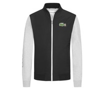 Collegejacke im Material-Mix