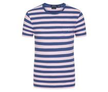 T-ShirtO-Neckmit Brusttasche Rosa