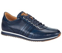Eleganter Sneaker, mit Lyralochung Marine