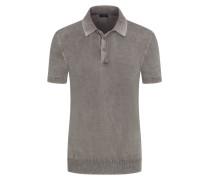 Poloshirt leichtem Baumwoll-Strick Taupe