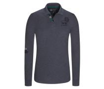 Poloshirt, Slim Fit in Grau für Herren