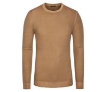 Pullover, Slim Fit in Braun für Herren