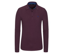 Poloshirt, Langarm in Rot für Herren