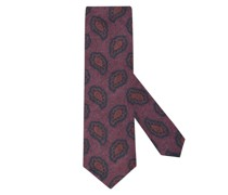 Flanell Krawatte mit Paisley-Muster Bordeaux
