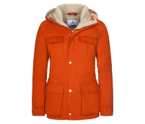 Daunenjacke in Orange für Herren