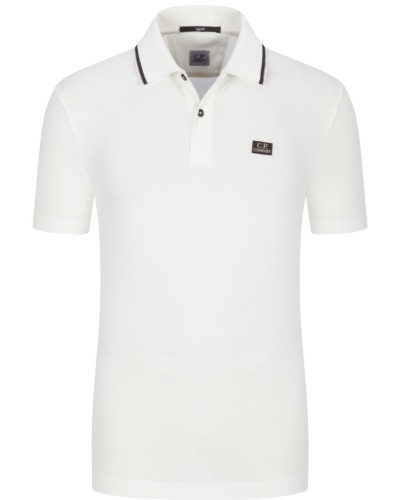 Poloshirt mit Stretchanteil, Slim Fit in Offwhite