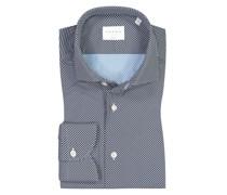 Hemd mit modischem Muster, Tailor Fit Marine